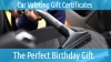 Valeting Gift Certificates
